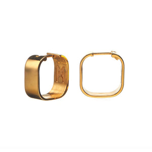 Signature Creole Earrings polished gold
