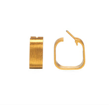 Load image into Gallery viewer, Signature Creole Earrings brushed gold