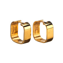 Load image into Gallery viewer, Signature Creole Earrings polished gold