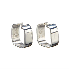 Load image into Gallery viewer, Signature Creole Earrings polished silver