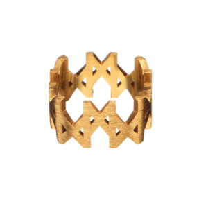 """MMM"" Ring Brushed Gold Vermeil"