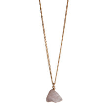 Load image into Gallery viewer, The Raw One Rose quartz necklace