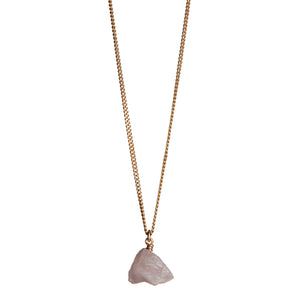 The Raw One Rose quartz necklace