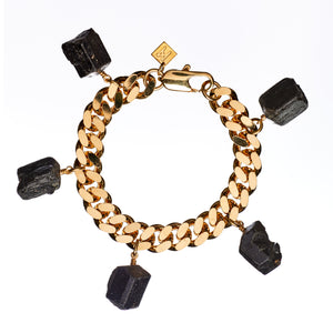 Wrist Collar Bracelet Black Tourmaline