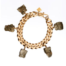 Load image into Gallery viewer, Wrist Collar Bracelet Pyrite