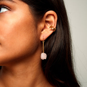 Keep Me Hanging Rose quartz Earrings Short
