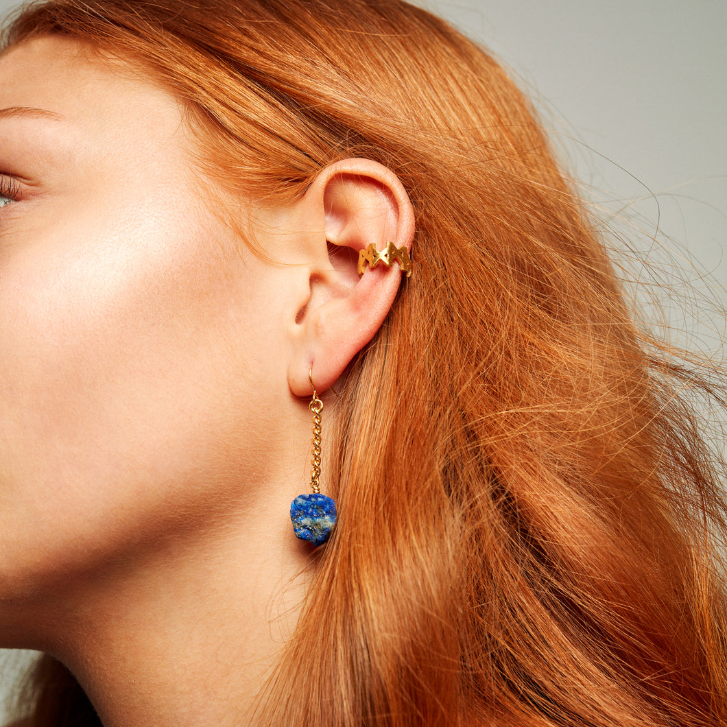 Keep Me Hanging  Lapis Lazuli Earrings Short