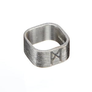 Signature Ring Silver Brushed