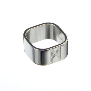 Signature Ring Silver Polished