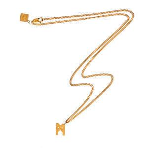Signature Necklace Brushed Gold Vermeil