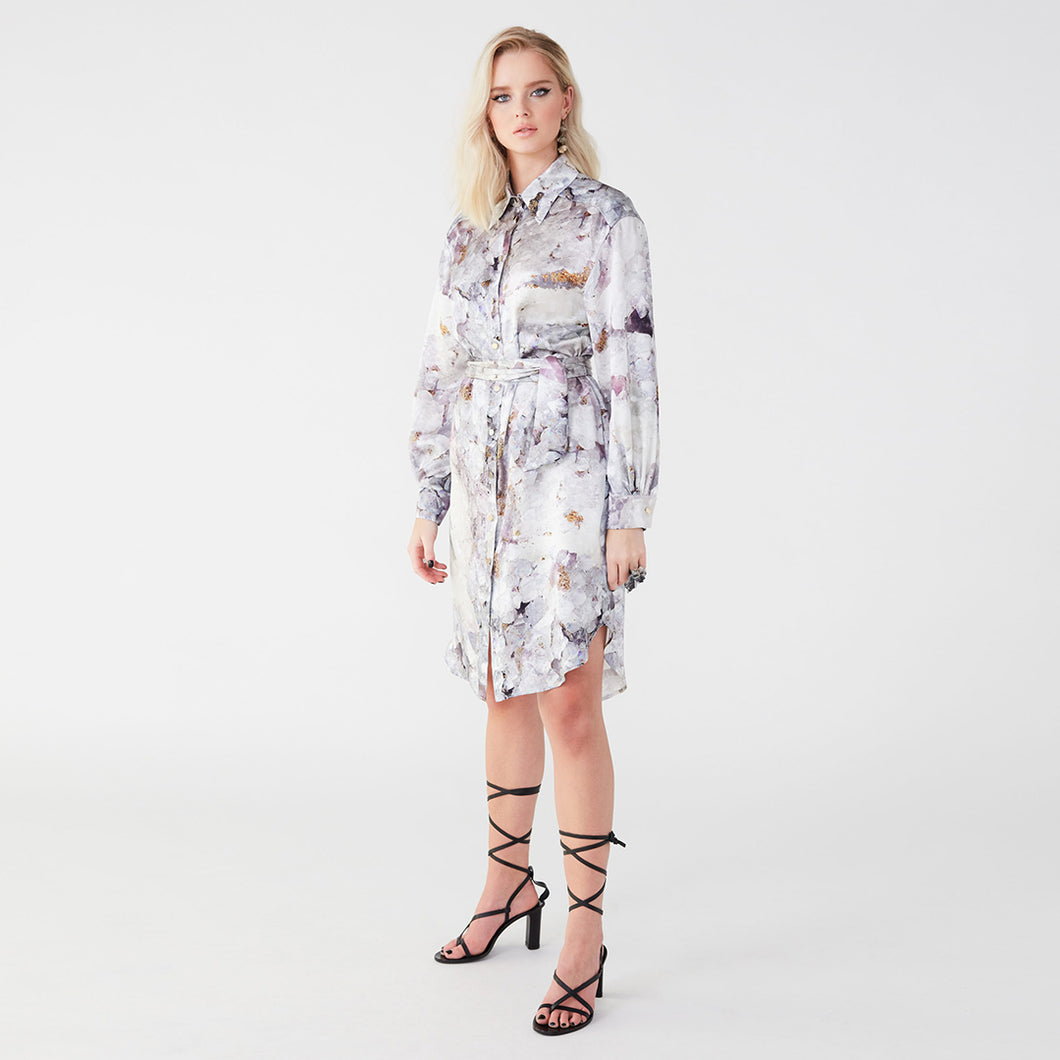 Carte Blanche purple fluorite shirt dress