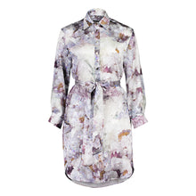Load image into Gallery viewer, Carte Blanche purple fluorite shirt dress