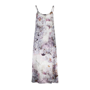 Pfeiffer purple fluorite slip dress