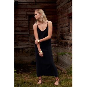 Pfeiffer black slip dress