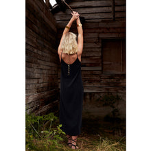 Load image into Gallery viewer, Pfeiffer black slip dress