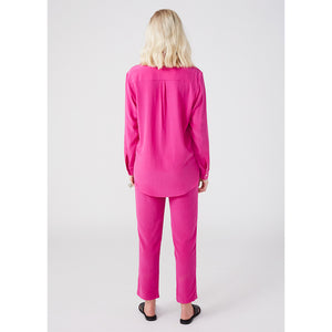 Smith fuchsia boyfriend shirt