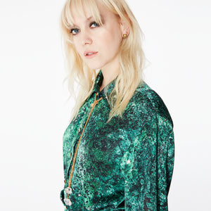 Harry Malachite Midi Shirt Dress