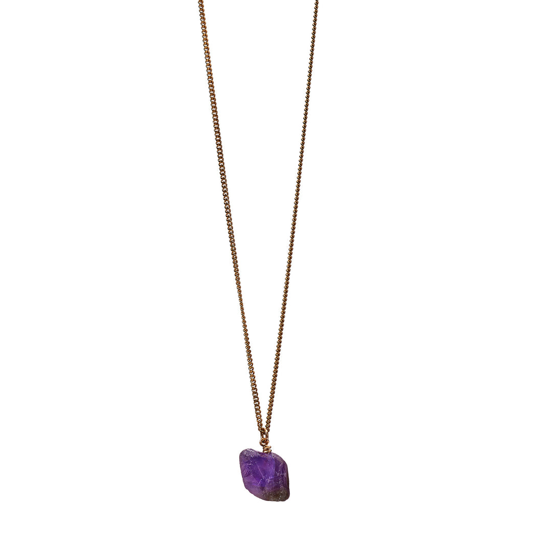 The Raw One Amethyst Necklace