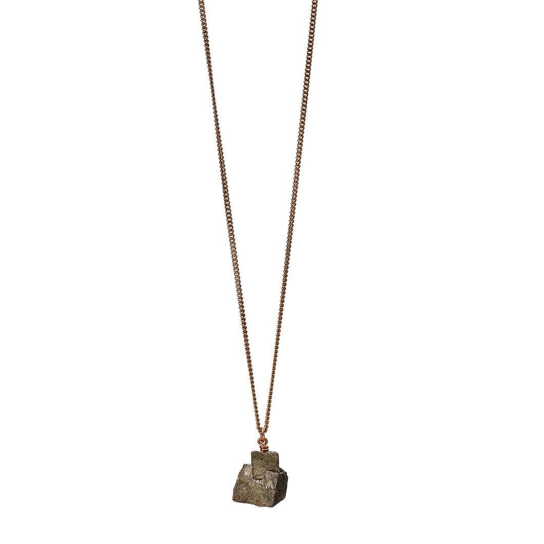 The Raw One Pyrite Necklace