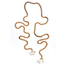 "Load image into Gallery viewer, ""Tie me up"" Quartz necklace"