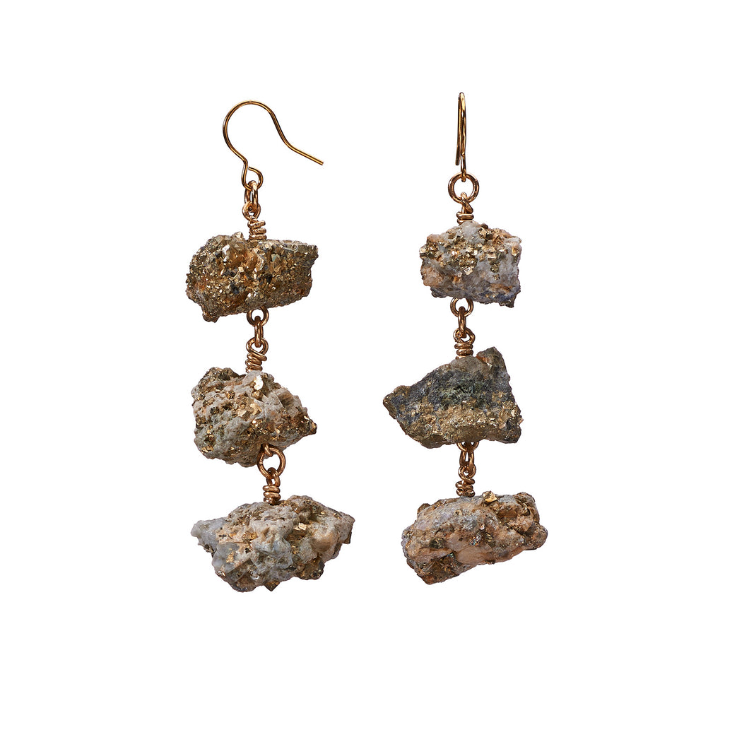 XXX Calcite/Pyrite Earrings