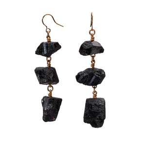 XXX Black Tourmaline Earrings