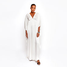 Load image into Gallery viewer, Dunaway White Kaftan