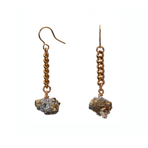 Keep Me Hanging Calcite/Pyrite Earrings Short