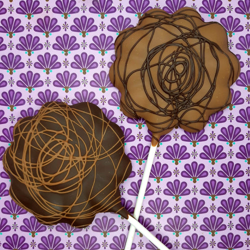 Caramel Flower Lolly