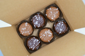 6 Pack Dipped Caramels - Almond