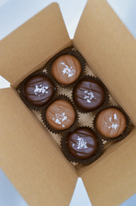 6 Pack Dipped Caramels - Sea Salt