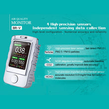 Load image into Gallery viewer, BLATN BR-V6 PM1.0 PM2.5 PM10 CO2 meter Formaldehyde Air Quality Analyzer - blatn shop