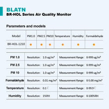 이미지를 갤러리 뷰어에 로드 , BLATN BR-HOL-1210 Formaldehyd PM1.0 PM2.5 PM10 air quality monitor - blatn shop