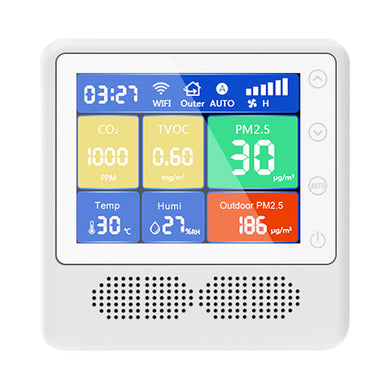 BLATN BR-K CO2 PM2.5 air quality monitor TVOC Formaldehyde detector - blatn shop