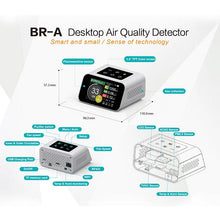 Load image into Gallery viewer, BLATN BR-A Desktop PM1.0 PM2.5 PM10 TVOC CO2 formaldehyde Air quality Monitor - blatn shop