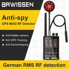 Загрузить изображение в средство просмотра галереи, BRWISSEN BR-DET-S100 Anti Spy Detector GPS MAG RF Tracking Strong Magnetic Wireless Bug Hidden Camera Detector