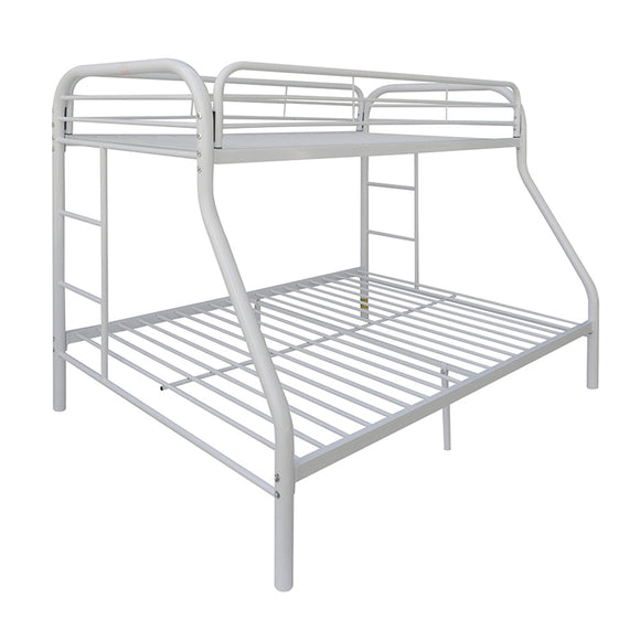 Tritan White Bunk Bed (Twin/Full) image