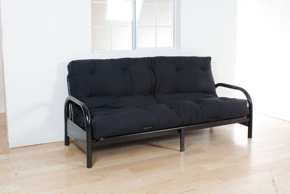 Nabila Black Full Futon Mattress, 6