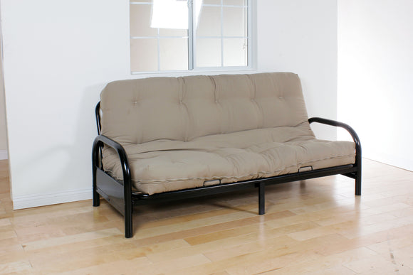 Nabila Black Full Futon Mattress, 8
