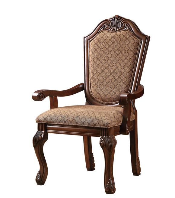 Chateau De Ville Fabric & Cherry Arm Chair image