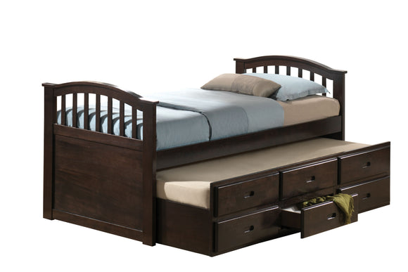 San Marino Dark Walnut Full Bed & Trundle image