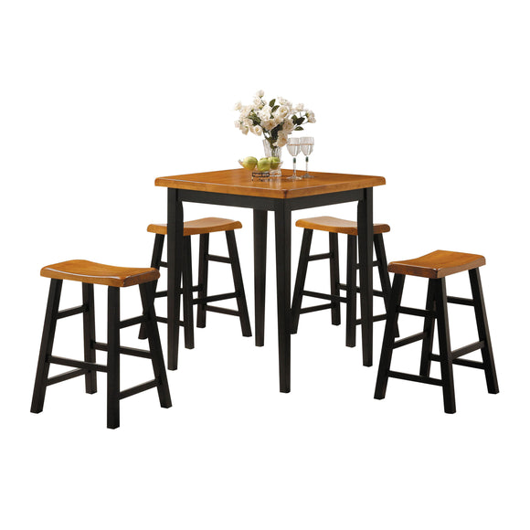 Gaucho Oak & Black Counter Height Set (5Pc Pk) image
