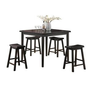 Gaucho Black Counter Height Set (5Pc Pk) image