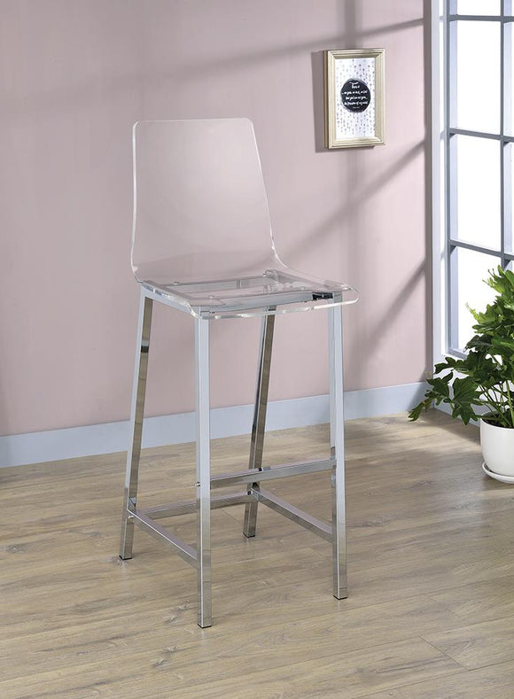 Contemporary Clear Acrylic Bar Stool