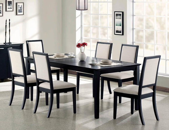 Louise Transitional Black Rectangular Dining Table image