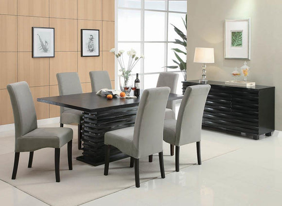 Stanton Contemporary Black Rectangular Dining Table image