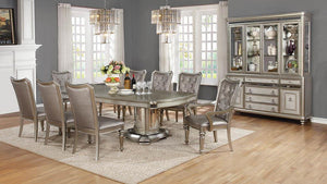 Danette Metallic Platinum Side Chair