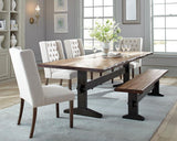 Burnham Farmhouse Mahogany Dining Table