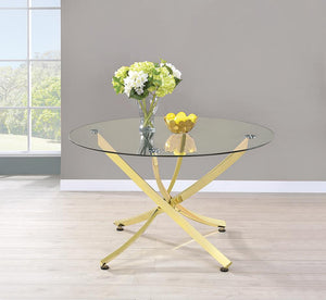 Chanel Modern Brass Dining Table