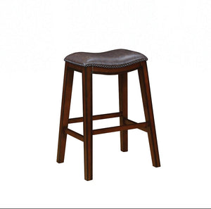 Traditional Two-Tone Brown Bar Stool